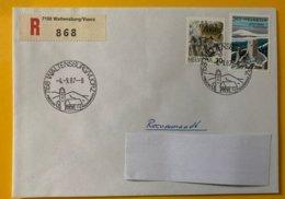 10216 - Enveloppe Recommandé 7158 Waltensburg/Vuorz 04.09.1987 - Marcophilie