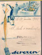 Carmaux (81 Tarn) Facturette Illustrée  SEROXON (papier Tue-mouches) 1935 (PPP23054) - Droguerie & Parfumerie