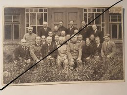 Photo Vintage. Original. Forestiers Et Aizsarg. Lettonie D'avant-guerre - Guerre, Militaire