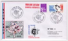 Kosovo - Pli Illustré Brigade Leclerc Mitrovica Oblitérations BPM 663 Journée De L'Europe KFOR Trident 09/05/2000 - Marcophilie (Lettres)