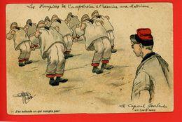 56 Campeneac CP Humoristique Militaire Commentaire Sur Pompiers Aux Madrieux CPA Antérieure 1902 - Humoristiques