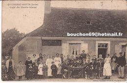 72 Coudereau Brette Les Pins (le Mans Changé) Cafe Du Merle Blanc Velo Cartes Chevre Goat RARE - Altri Comuni