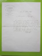 FUMISTERIE & TOLERIE L.GALLI à ARGENTEUIL (Seine-et-Oise) Lettre Facture Du 9/09/1899 - Straßenhandel Und Kleingewerbe