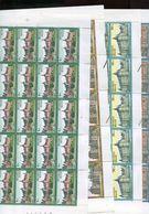 Belgie 1987 2265/68 Kasteel RIXENSART Gaasbeek Westerlo Fallais Castle FULL SHEET MNH RR Plaatnummer 4115 - Feuilles Complètes