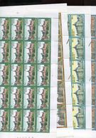 Belgie 1987 2265/68 Kasteel RIXENSART Gaasbeek Westerlo Fallais Castle FULL SHEET MNH RR Plaatnummer 4115 - Full Sheets