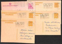 Belgique - Lot 5 Avis De Changement D'adresse (Huy Ciney) - Avis Changement Adresse