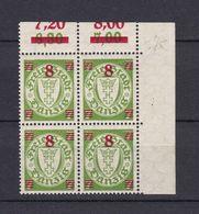 Danzig - 1934 - Michel Nr. A 241 Viererblock Rand - Postfrisch - 120 Euro - Danzig