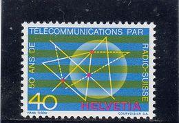 Suisse - Année 1971 - Neuf** - N°Zumstein 504**- 50 Ans Radio-Suisse - Svizzera