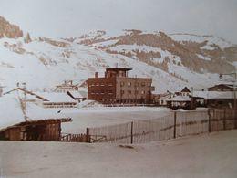 MEGEVE (74) - La Patinoire - Plaque De Verre Stéréoscopique 6 X 13 - TBE - Plaques De Verre