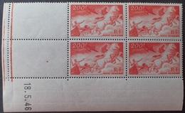 R1337/20 - 1946 - FRANCE - POSTE AERIENNE - BLOC N°19 NEUF** CdF Daté (charnières Sur BdF) - Cote (2020) : 32,50 € - 1940-1949