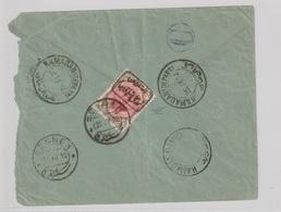"""Persien 1912 """"Senneh Rebellion"""" Ausgabe Auf Brief Mit Zurückweisungs-Vermerk - Irán"""