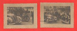 Fiat 1500 Germania Incidente Vs Moto Fine Anni ' 30 Targa Fiat Auto Genova Cars 2 Old Photo - Automobiles