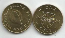 Ghana 1 Cedi 1984. High Grade - Ghana