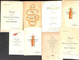 Lot 8 Menu Mons Cuesmes (Charles Lemaire 1905, Association Des Entrepreneurs '55 - Union Du Crédit 1908, ...) - Menus