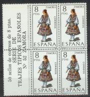 España 1971, Traje Zamora Bk4 + Etiq Ed=2017 (**) - 1971-80 Ongebruikt