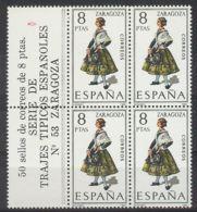 España 1971, Traje Zaragoza Bk4 + Etiq Ed=2018 (**) - 1971-80 Ongebruikt