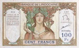 New Caledonia 100 Francs, P-42e (1963) - Very Fine - No Pinholes - Nouméa (Nuova Caledonia 1873-1985)