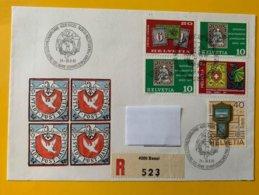 10223 -  Enveloppe Recommandé 100 Jahre Schweizerischer Ohilatelisteb Verein Basel 1982 - Marcophilie