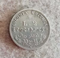 Colonia Eritrea 2 Lire Umberto I 1890 - Colonies