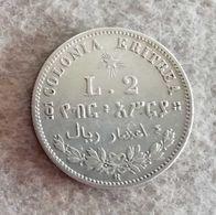 Colonia Eritrea 2 Lire Umberto I 1896 (R) - Colonies