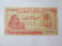 Rare! Libya 5 Piastres 1952 Banknote - Libyen