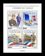 Togo 2020 Mih. 11339/42 World War II. Charles De Gaulle MNH ** - Togo (1960-...)
