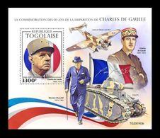 Togo 2020 Mih. 11343 (Bl.2065) World War II. Charles De Gaulle MNH ** - Togo (1960-...)