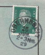 Deutsches Reich Karte Mit Tagesstempel Obernbreit 1929 Marktbreit Lk Kitzingen Werbung Und Zeichnung - Storia Postale