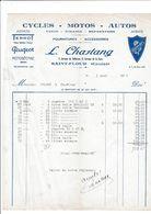 15-L.Chastang..Cycles-Motos-Autos...Terrot, Peugeot, Motobécane, Rosengart...Saint-Flour..(Cantal)..1935 - Automobil