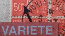 """R1337/28 - 1927 - FRANCE - TYPE SEMEUSE LIGNEE - BLOC N°199k Sur ✉️  VARIETE ➤➤➤ """" 50° """" ("""" C """" Fermé) - Variétés: 1921-30 Lettres & Documents"""