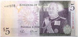 Tonga - 5 Pa'Anga - 2009 - PICK 39a.1 - NEUF - Tonga
