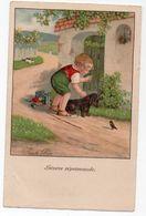 Illustrateur PAULI EBNER * SEVERE REPRIMANDE * CHAT * CHIEN/TECKEL * JOUET EN BOIS *OISEAU - Ebner, Pauli