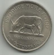 Uganda 5 Shillings 1968. KM#7 FAO - Ouganda