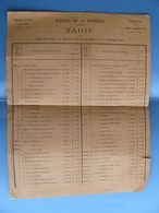 Chemin De Fer De L'état Magasin De LA ROCHELLE Tarifs 1er Février 1895 De L'économat  ( Futur SNCF ) - Old Paper