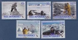 Ross, N° 105 à 109 + Bloc N° 1 (Cinquantenaire Du Programme, Biologiste, Hydrologue, Météorologue...) Neuf ** - Ross Dependency (New Zealand)