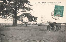 Guinée Française Konakry Conakry Entrée De La Rade + Timbre Cachet 1906 Pour Nogent Les Vierges - Guinée Française