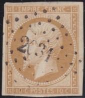 France      .    Yvert           .    13     .         O      .     Oblitéré   .   /    /  Cancelled - 1853-1860 Napoléon III