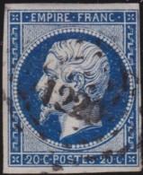 France      .    Yvert           .    14B     .         O      .     Oblitéré   .   /    /  Cancelled - 1853-1860 Napoléon III