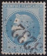 France  .    Yvert   .    29 B  (II)      .     O     .     Oblitéré   .   /  . Cancelled - 1863-1870 Napoléon III Lauré