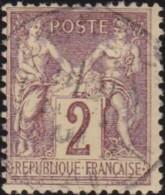 France  .    Yvert   .    85     .     O     .     Oblitéré   .   /  . Cancelled - 1876-1898 Sage (Type II)