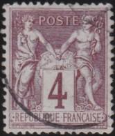 France  .    Yvert   .    88     .     O     .     Oblitéré   .   /  . Cancelled - 1876-1898 Sage (Type II)