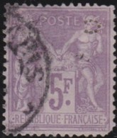 France  .    Yvert   .    95     .     O     .     Oblitéré   .   /  . Cancelled - 1876-1898 Sage (Type II)