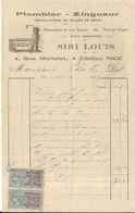 NICE . SIRI LOUIS . PLOMBIER ZINGUEUR . 1921 - Ambachten