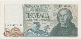 ITALY P. 102a 5000 L 1971 AUNC - 5000 Lire