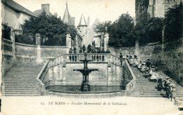 CPA - LE MANS - ESCALIER MONUMENTAL DE LA CATHEDRALE - Le Mans