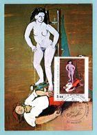 Carte Maximum 1984 - HELION - Le Peintre Piétiné Par Son Modèle - YT 2343 - 80 Amiens - Cartes-Maximum