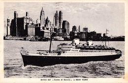 """PAQUEBOT : """"CONTE DI SAVOIA"""" : GENOVA - NEW YORK - OBLITÉRATION à BORD / CANCELLATION On BOARD : 12 X 1939 (ae898) - Piroscafi"""