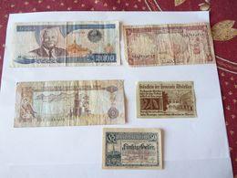 A Vendre Lot De 5 Billets De Banque (voir Photo) - Banknoten