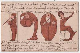 CPA Art Nouveau Illustrateur Musiciens Fifre Tambour 1905 - Neujahr