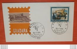 ITALIEN 1459 Tourismus - Gradara  --- FDC Cover (2 Foto)(71932) - 1946-.. République